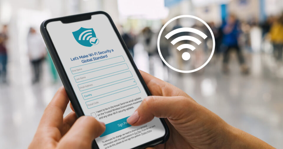 Trusted Wireless Environment petition on a phone screen